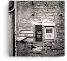 Venice: Post box on house Canvas Print