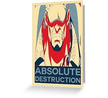 "Akainu ""Absolute Destruction"" Design Greeting Card"
