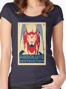 "Akainu ""Absolute Destruction"" Design Women's Fitted Scoop T-Shirt"
