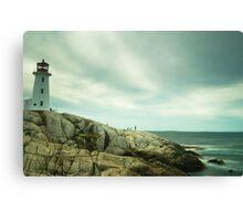 Lighthouse and a long sea Canvas Print