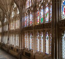 Cloisters Gloucester Cathedral by Cliff Williams