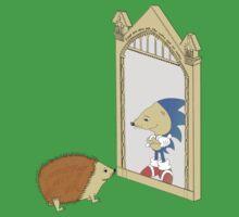 Hedgehog sees Sonic in Mirror of Erised (Harry Potter) Baby Tee