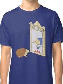 Hedgehog sees Sonic in Mirror of Erised (Harry Potter) Classic T-Shirt