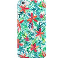 Paradise Floral - a watercolor pattern iPhone Case/Skin