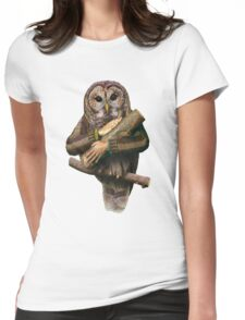 The owls are not what they seem Womens Fitted T-Shirt