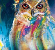 A Colorful Owl by Jose Ochoa