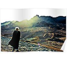 Bedouin in the desert Poster