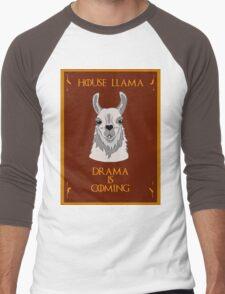 House Llama  Men's Baseball ¾ T-Shirt
