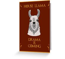 House Llama  Greeting Card