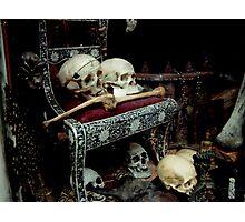 Skulls and Bones on the Throne Photographic Print
