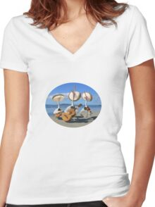 Pelican Mariachi band Women's Fitted V-Neck T-Shirt