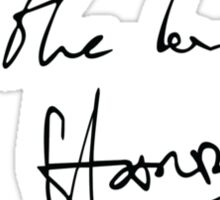 All The Love - Harry Styles Signature (Black) Sticker