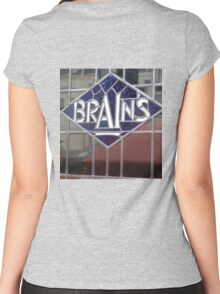 Brains Women's Fitted Scoop T-Shirt