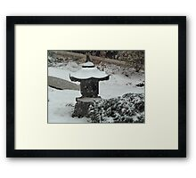 Oriental Snowfall Framed Print
