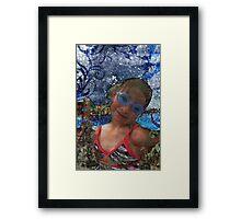 Batik Ocean Pose Midwest Framed Print