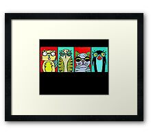 The Glasses Gang Framed Print