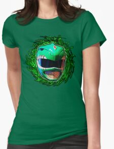 Power Rangers Green Ranger Swirl Womens Fitted T-Shirt
