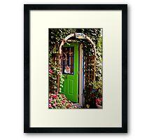 Behind the Green Door Framed Print