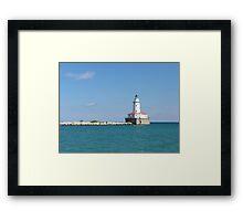 Windy City Lighthouse Framed Print