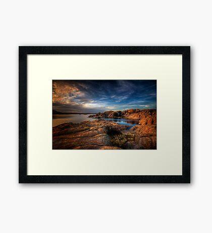 Willow Lake Rock Around Framed Print