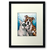 Bull Buddies Framed Print