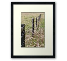 Australian Farm - Barbed Wire Framed Print
