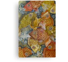 Releasing the Fish Canvas Print