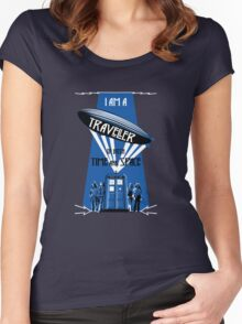 Traveller of Time and Space Women's Fitted Scoop T-Shirt