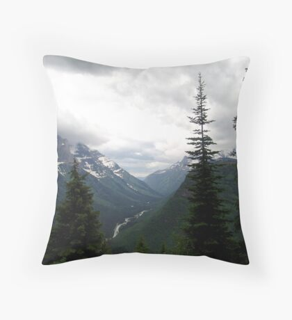 VIEW OF HEAVEN - GLACIER NATIONAL PARK Throw Pillow