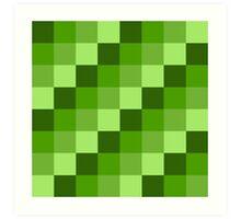 Green Blocks Art Print