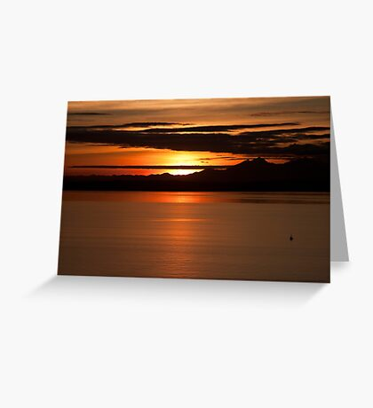Sunset on Puget Sound Greeting Card