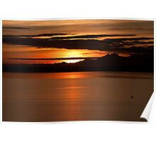 Sunset on Puget Sound Poster