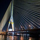Chao Phraya Suspension Bridge by phil decocco