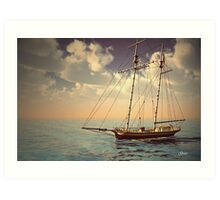 Voyage of the Cutter Art Print