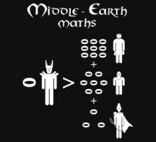 Middle Earth Maths (white) by mime666