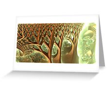 The velocity tree crowns Greeting Card