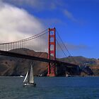 Golden Gate Bridge and a Yacht by Svetlana Day