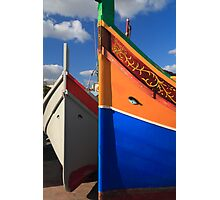 Maltese boats Photographic Print