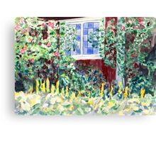 Idyllic Swedish Garden Impression Canvas Print