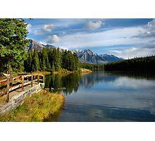 Johnson Lake - Banff National Park Photographic Print