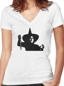 Wizard Of Oz Wicked Witch Women's Fitted V-Neck T-Shirt