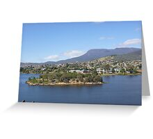 Looking across the Derwent  River towards Mt Wellington Greeting Card