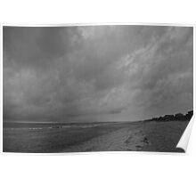 Stormy Emerald Beach Poster