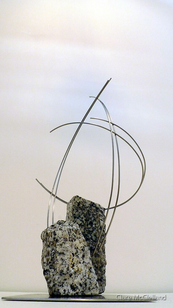 As One sculpture exhibit by Clare McClelland