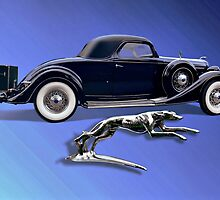 1936 Lincoln Model K Lebaron Coupe by Steven  Agius