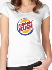 Burnin' Kush  Women's Fitted Scoop T-Shirt