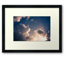 Brisbane Sky - Looking Up - January 12 2011 Framed Print