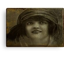 A Girl And Her Pearls Canvas Print