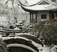 Suzhou Garden in the Snow by Mark Bolton
