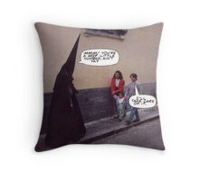M Blackwell - Because the Costume's Just Not Scary Enough... Throw Pillow